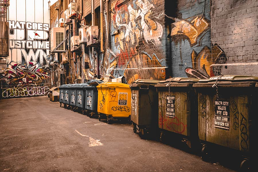 graffiti-and-rubbish-bins-Melbourne