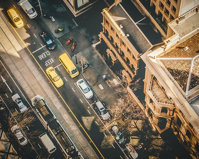 overhead-shot-of-street-traffic