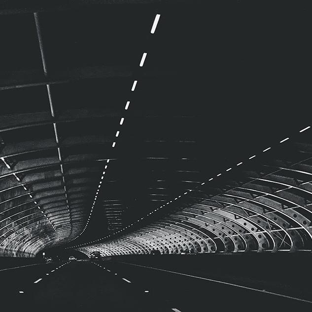 Driving-along-Web-like-bridge-Melbourne